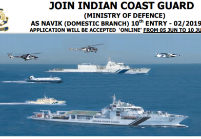 Indian Coast Guard Vacancy June 2019