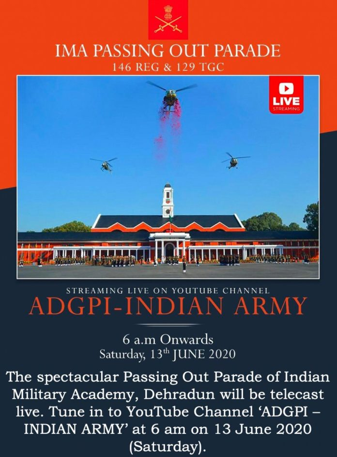 IMA Passing Out Parade on June 13; cadets' parents to miss due to coronavirus threat, live webcast on Indian Army's Youtube